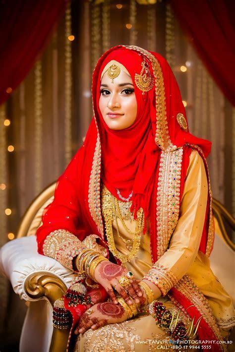 Red #HijabiBride #SouthAsianBride ? Hijabi South Asian