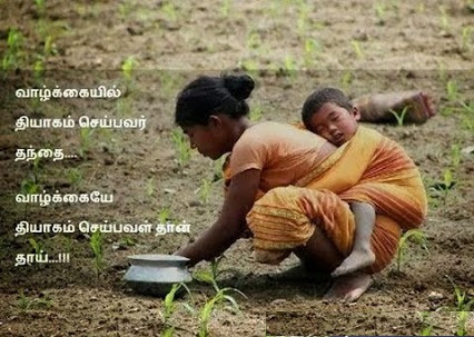 Father Vs Mother Lovable Quote Tamil Photo Facebook Image Share