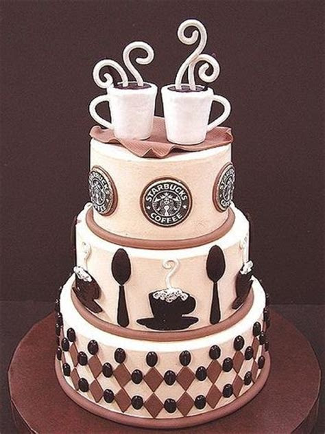 Starbucks Coffee Wedding Cake Pictures, Photos, and Images