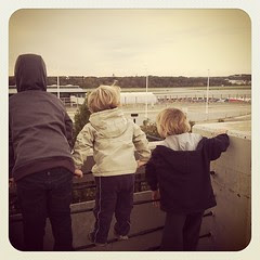 Watching planes take off at the airport...