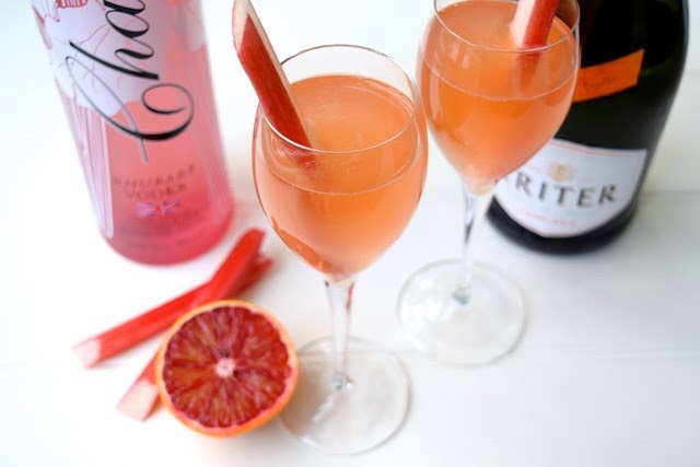 Rachel Phipps: Valentines Day: Rhubarb & Blush Orange Fizz