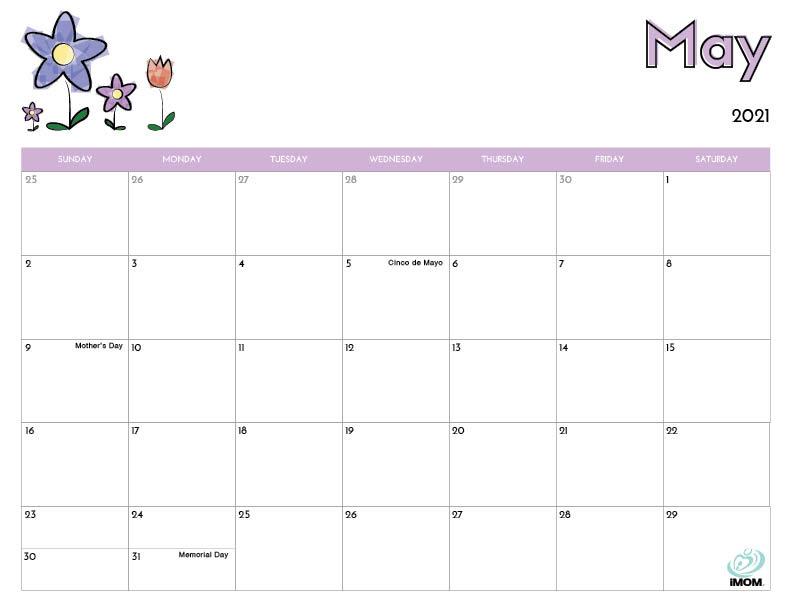 Kids May 2021 Calendar | Calendar 2021