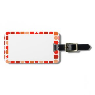 Orange-Flavored Geometrics on Luggage Tag