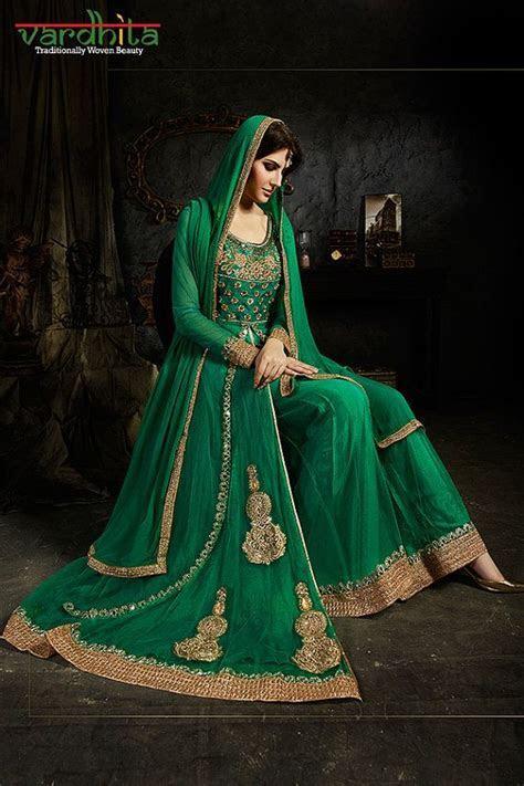 Green Color Color Net Fabric Suit Salwar Kameez by