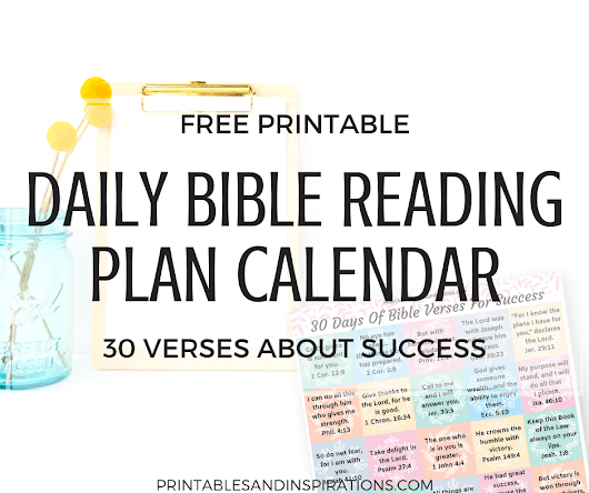 Free Daily Bible Reading Plan Calendar - Printables and Inspirations