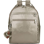 """Kipling Micah Metallic 15"""" Laptop Backpack Metallic Pewter"""