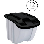 Suncast BH188810 18 Gallon Indoor or Outdoor Recycle Storage Bin, Gray (12 Pack) at Spreetail (VMinnovations | VM Express)