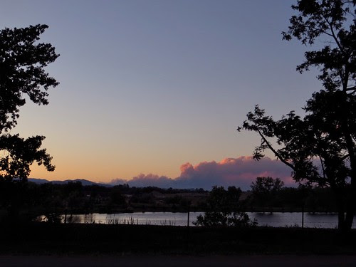 Smoke from High Park Fire at Sunset