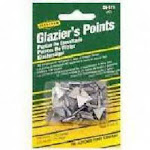 Triangle Glazier Points -PACK 10