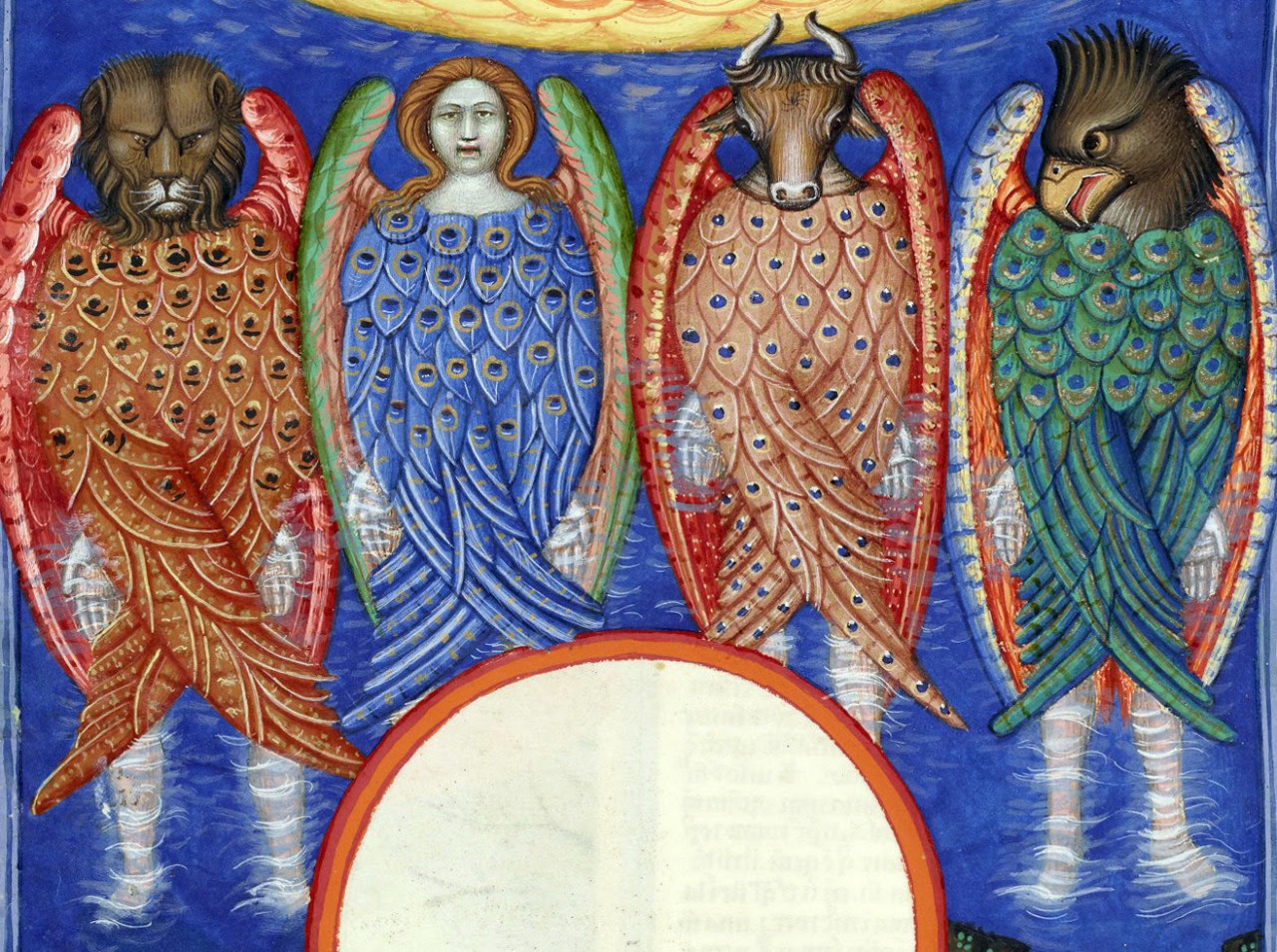 Ezekiel's Vision (Ezekiel 1:1-30) 'Also out of the midst thereof came the likeness of four living creatures. And this was their appearance; they had the likeness of a man. […] As for the likeness of their faces, they four had the face of a man, and...