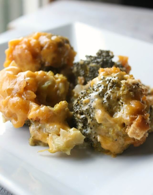 Slow Cooker Broccoli Cheese Casserole - Daily Appetite