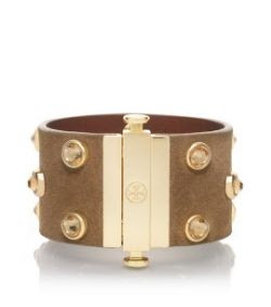 Tory Burch Theophile Suede Crystal Stud Bracelet