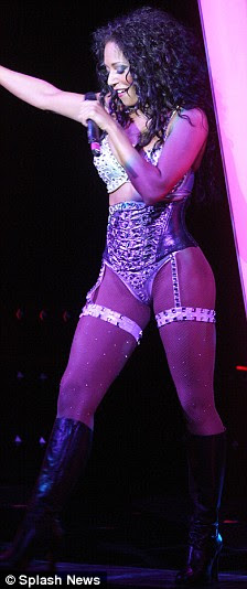 Tacky Spice: Mel B leaves little to the imagination in