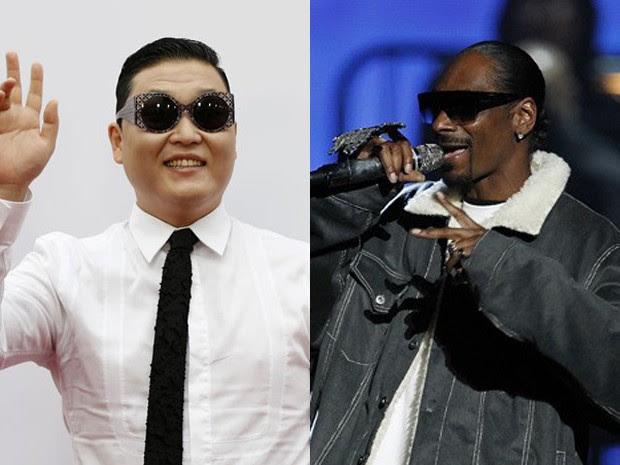 Psy irá lançar nova música em parceria com Snoop Dogg (Foto: Mario Anzuoni/Reuters e Matt Sayles/AP)