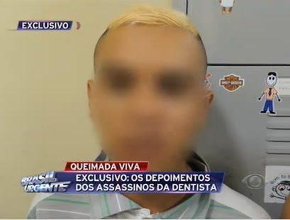 Menor assumiu ter ateado fogo na dentista / Reprodução/Brasil Urgente