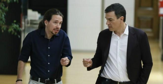 Pedro Sáchez y Pablo Iglesias en el Congreso, en una imagen de archivo / EFE