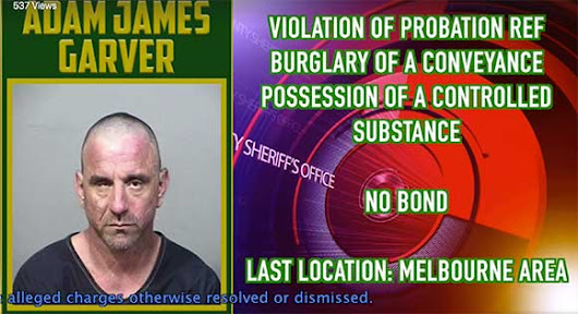 VIDEO: Brevard County Sheriff's Office Names Adam James Garver Fugitive of the Week |