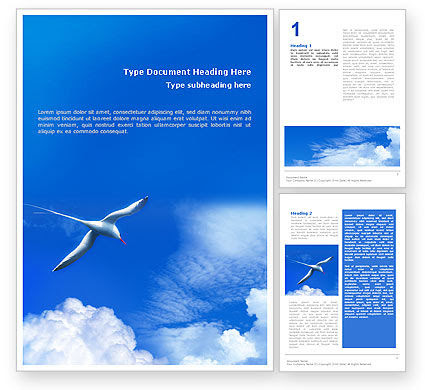 Sea Gull Word Template