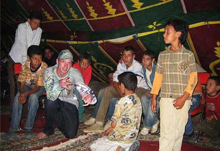 Marlon Pollock with the children of Joujouka. - Click Here To Learn More About Marlon Pollock.