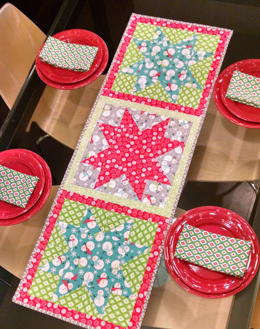 Star Tablerunner and Cloth Napkin Tutorial!