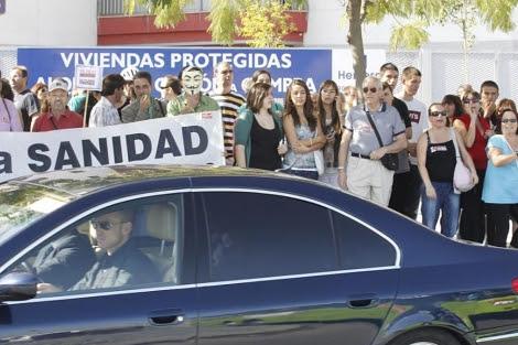 Imagen de la protesta. (Efe)