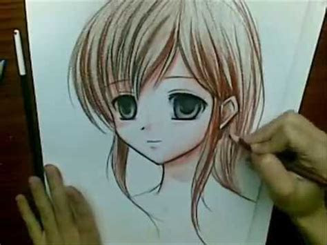 drawing anime girl  watercolor pencils youtube