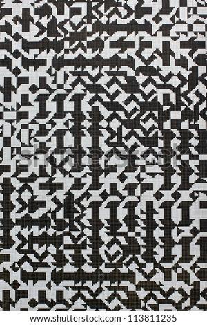 Black And White Random Ceramic Tile Pattern Stock Photo 113811235 ...