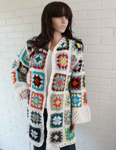 Picture of Granny Square Coat Crochet Pattern