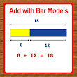 Addition using Bar Models, 1st Grade Math Worksheets - Singapore Math