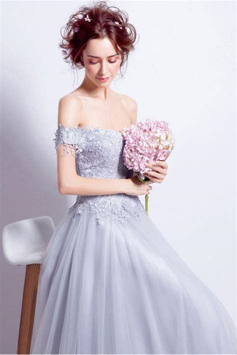 Beautiful Prom Dresses A line Off the shoulder Long Chic