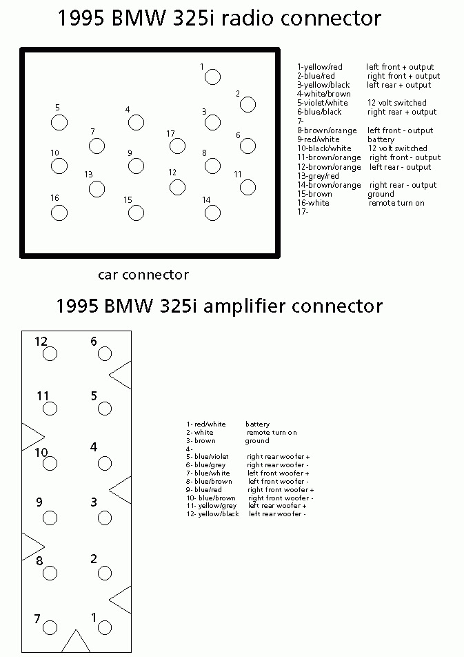 E90 Head Unit Wiring Diagram