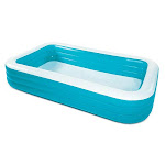 Summer Waves 10ft X 6ft X 22in Deluxe Inflatable Backyard Kiddie Splash Pool