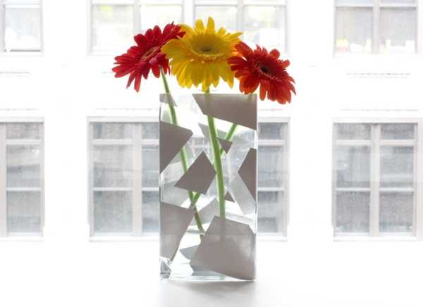 Unique Decorative Vase Created with Tape and Spray Paint