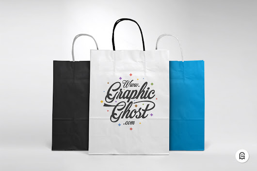 Free Paper Bag Mockup - Graphic Ghost