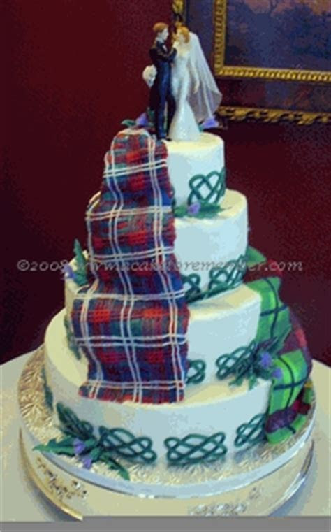 Love Among the Tartans: A Celtic Cake   A Wedding Cake Blog
