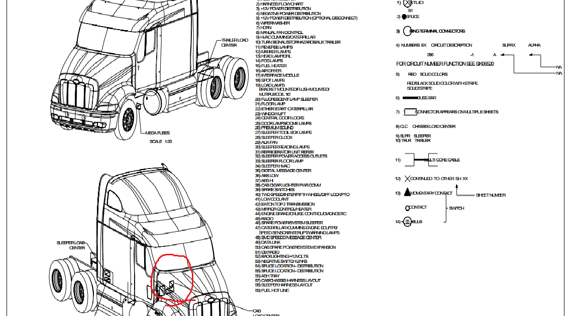 Wiring Diagram: 8 2014 Freightliner Cascadia Fuse Box Diagram