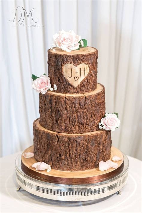 Wood / tree stump effect wedding cake   cakes in 2019