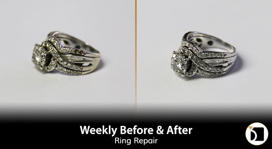 Weekly Before & After #93 - A Double Diamond Ring Repair