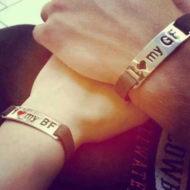 Bf Gf Love Heart Bracelet Set Bracelets Girlfriend Boyfriend