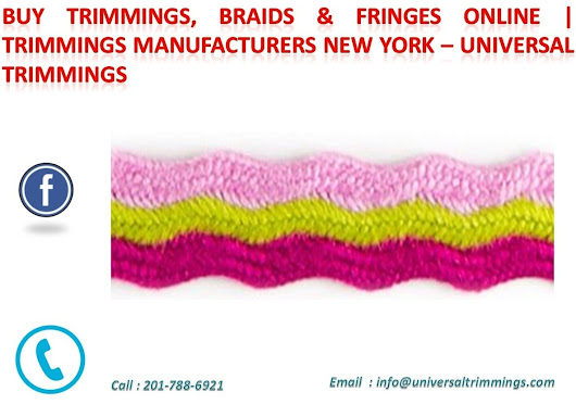 Twisted Cords, Military Braids and Uniform Braids Manufacturers & Suppliers – Universal Trimmings | Universal Trimmings
