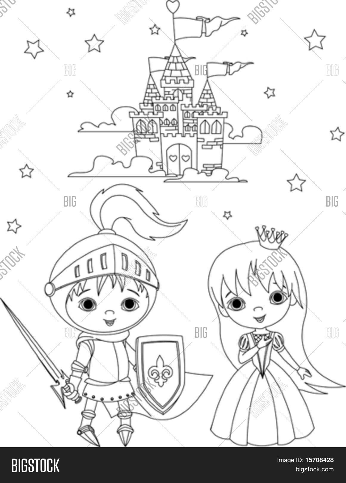 Mooie Kleurplaat Ridder En Prinses Krijg Duizenden
