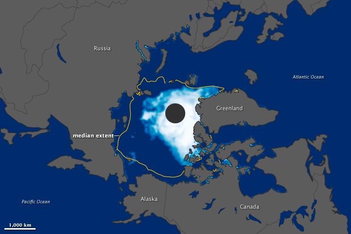 Arctic Sea Ice Drops below 2007 Record