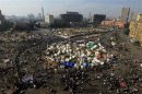 General view of anti-Mursi protesters gathered in Tahrir Square in Cairo