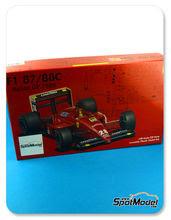 Maqueta de coche 1/20 Fujimi - Ferrari F1 87/88C Fiat Nº 27, 28 - Michele Alboreto, Gerhard Berger - Gran Premio de Italia 1988