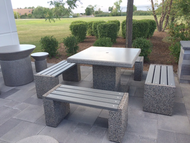 Concrete Table Sets for outdoor patio at Aircraft ...