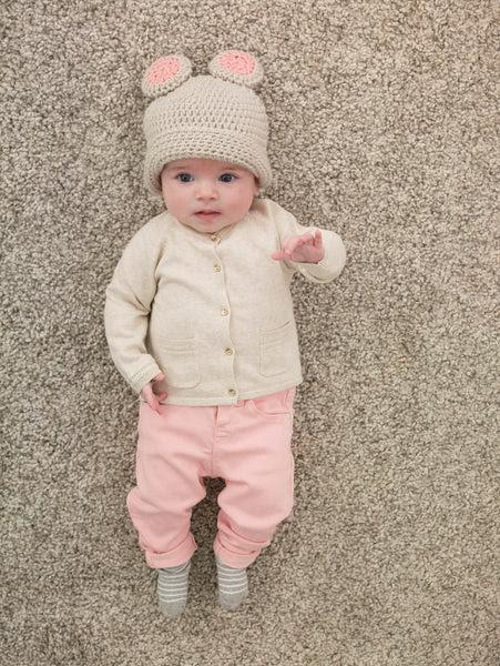 Girl's Baby Bear Hat (Crochet)