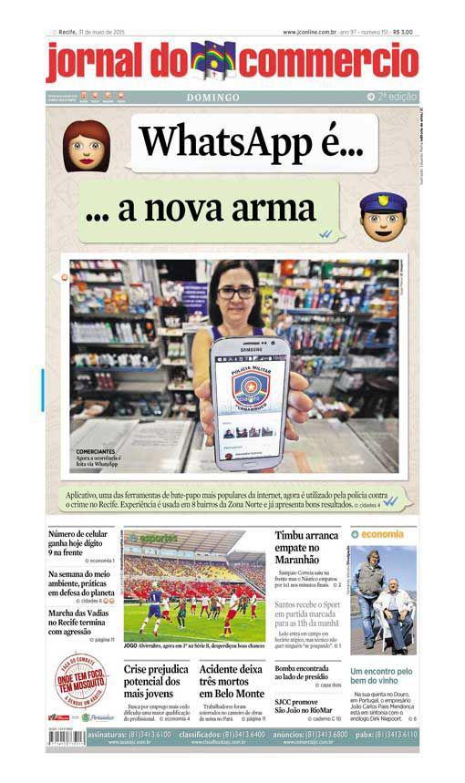 Capa do Jornal - 31/05/2015