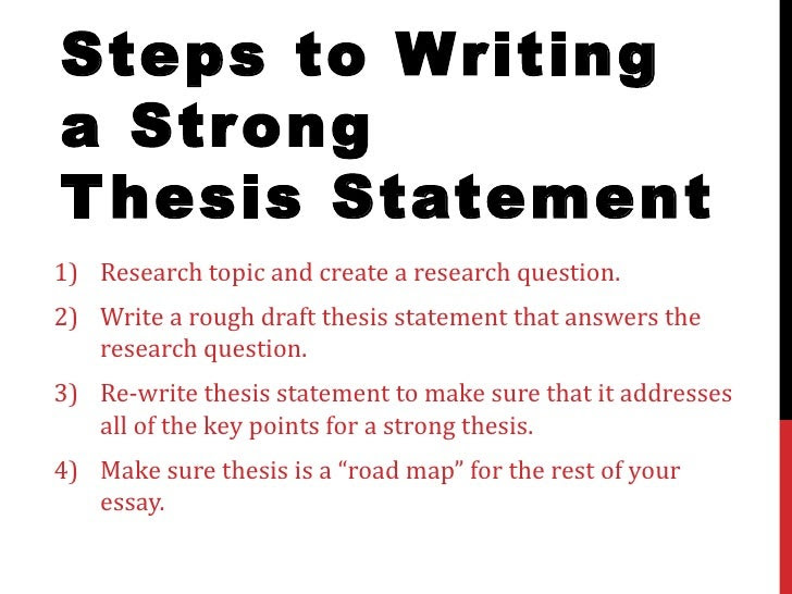 how to make a thesis statement gift
