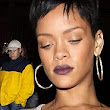 Walk that walk! Rihanna puts her slender frame on display in knitted jumper and pencil skirt during a night out