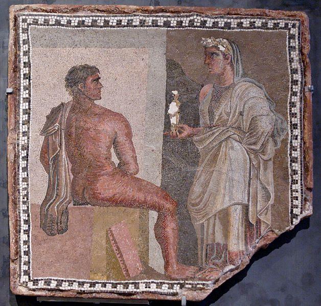 Fil: Mosaic Orestes Iphigenia Musei Capitolini MC4948.jpg